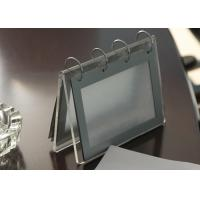 Buy cheap Office Clear Acrylic Calendar Holder , Custom Desk Calendar Stand product