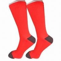 Buy cheap Men's nylon compression running socks with terry on heel and toe from wholesalers