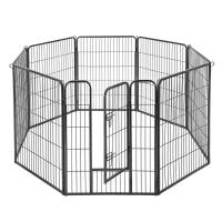 Buy cheap Grey Solid Metal Dog Crate 8 Panel Pet Playpen Rounded Corners Without Sharp Edge from wholesalers