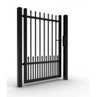 Buy cheap Singal gate aluminum fence gate with top ornament from wholesalers