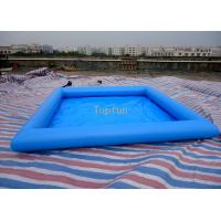Buy cheap Safe 5*5m Blue Kids Inflatable Paddling Pool , 0.9mm PVC Tarpaulin from wholesalers