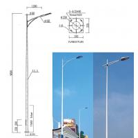 Buy cheap Square High Mast Light Pole Steel Warn 25m 30 Meter Galvanized Street Light Pole from wholesalers