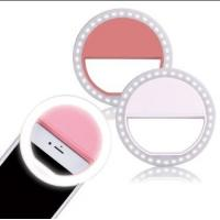 Buy cheap hot selling Rechargeable selfie Ring Light for iPhone 1500Mah Power Bank 36 Led Light Clip pin color from wholesalers