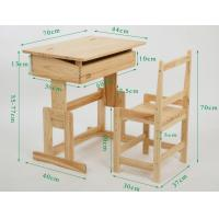 Buy cheap Wooden student furniture, classroom desk and chairs,children furniture, kids table and chair from wholesalers