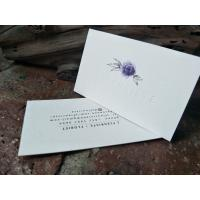 Buy cheap High End Blind Debossed Business Cards Colorful Name Cards Extraordinary Touching from wholesalers