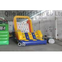 Buy cheap Large-Scale Inflatable Rock Climbing Wall With Slde And Pool For Entertainment from wholesalers