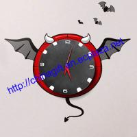 Buy cheap DIY Devil Wallpaper Wall Clock from wholesalers