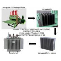 usage of corrugated fins production line