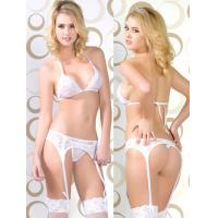 Buy cheap Breathable Sexy Sheer Satin Eco Friendly Knot Personalised Bridal Underwear With OEM ODM from wholesalers