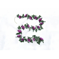 Buy cheap 2.4m Long Wall Floral Decor Artificial Silk Rose Garland from wholesalers