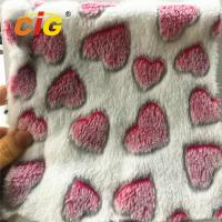 Buy cheap 100% Polyester Heart Printed Coral Fleece for Blanket Bed Sheet Home Textile product