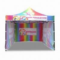 Buy cheap Portable Pop-up Tent for Commercial Purposes, Made of 600 Denier Fabric, Sets Up in Seconds from wholesalers