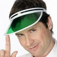 Buy cheap Clear Green Poker Dealer Visor Gambling Casino Hat, Made of Eco-friendly Material from wholesalers