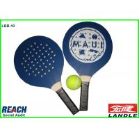 Buy cheap Blue Adult Size Beach Ball Racket With Holes , Wood Board And Handle from wholesalers