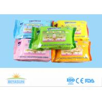 Buy cheap Private Label Flushable Wet Wipes For Adults , Disposable Non Toxic Flushable Wipes from wholesalers