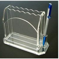 Buy cheap Clear 3mm Acrylic Stationery Holder With Notes Box 5 * 7 * 8cm product