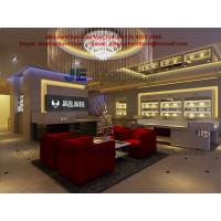Buy cheap Eyeglass Store Interior Design Optometry Center Sofa with Display Cabinet and Counter in Led glass Showcase Stand from wholesalers
