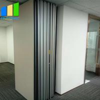 Buy cheap EBUNGE Sliding Folding Partitions Movable Walls Space Divider MDF Finish for Office Meeting Room from wholesalers