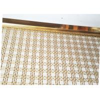 Buy cheap Decoration Square Hole Type Handrail Balustrade Weave Mesh With Gold Color Frame from wholesalers