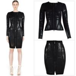 Buy cheap 2014 autumn/winter black crocodile foil print 2 piece bandage set,cheap HL bandage dress from wholesalers
