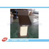 Buy cheap Brown customize MDF Metal Wooden Display Stands / Table , carpet display stand from wholesalers