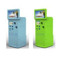 Buy cheap Custom Recycling Corrugated Cardboard Floor Standing Display Kiosk For Bus Stations from wholesalers