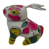 Buy cheap clay sculpture Chinese Zodiac business gift  painted rabbit birthday gift from wholesalers