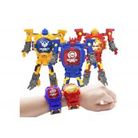 Buy cheap Children's Transformer Toys Digital Deformation Robot Watch With Adjustable Time from wholesalers