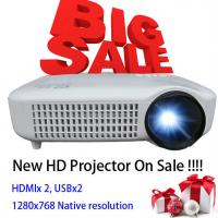 Buy cheap Newest 2015 White Color Video LCD Home Theater Projector With HDMI USB Proyector Beamer product