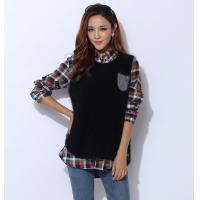 Buy cheap Autumn Cashmere Sweaters / Sleeveless Knit Jacket With Front Pocket from wholesalers