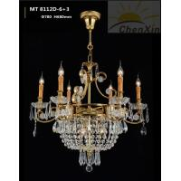 Buy cheap Candle Bulb Crystal Pendant Chandelier Decorative Ornate Ceiling Lights For Hall from wholesalers