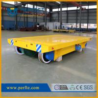 Buy cheap 50 tons rail cable reel trolley trailer as transporter used in factory from wholesalers