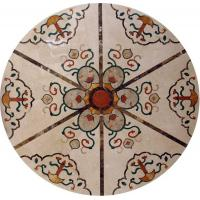 Marble Water Jet Mosaic Tile Medallion Patterns , Inlay Mosaic Tabletop Patterns