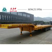 Buy cheap 4 Axles Low Bed Trailer Truck 40-70 Ton Capacity With Mechanical Suspension from wholesalers