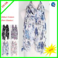 Buy cheap Sell Ladies 100% Polyester Printed Fashion Scarf 180*90CM from wholesalers
