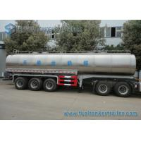 Buy cheap 45m3 304 2B Edible Grade Chemical Tank Trailer 3 Axle For Milk / Liquid Food from wholesalers