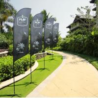 Buy cheap Printed Custom Teardrop Flags , Trade Show Feather Advertising Flags from wholesalers