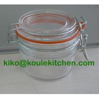 Buy cheap glass storage jar with lid from wholesalers