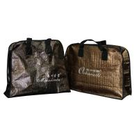 Buy cheap Crocodile Veins Reusable Carrier Bags 100gsm With Half Round Zipper from wholesalers