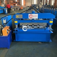 Buy cheap 12m/Min Color Steel PLC Roof Sheet Roll Forming Machine For Building from wholesalers