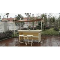 Buy cheap White Resin Wicker Bar Set , Modern Rattan Conservatory Furniture from wholesalers