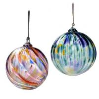 Buy cheap ckear glass hanger with blue dot from wholesalers