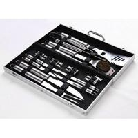 Quality 18 Pieces Stainless Steel BBQ Set with Aluminum Storage Case - Heavy Duty Professional Outdoor Barbecue Grill Tool for sale