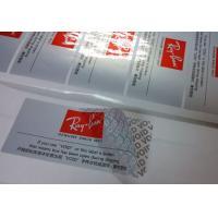 Silver Partial Security Printing Paper Material Water Based Sensitive Adhesive