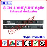 Buy cheap 8-in-1 VHF/UHF Agile Interval AV Converter/Modulator for Hospital/community/campus from wholesalers