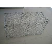 China Gabion Basket Galvanized Gabion Box With 2.7mm 3.05mm Wire Anti - Crossion 2m * 1m * 1m on sale