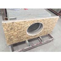 Buy cheap Polished Granite Vanity Countertops / Granite Slab Countertop With Sink Hole from wholesalers