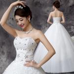 Buy cheap Spring Hot Sale Beading Princess Waist Bra Lace Flower Shoulder Wholesale Wedding Dress from wholesalers