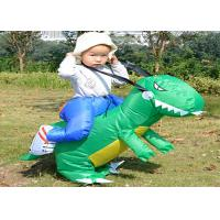 Buy cheap Dinosaur Costume Suit Children'S Inflatable Garden Toys , Green / Yellow Inflatable Baby Toys from wholesalers