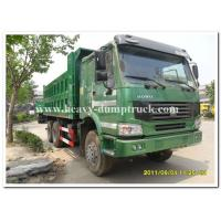 Buy cheap 10 Wheel dump truck 35 tons green cabin 20m3 body cargo and parabolic leaf spring tipper dump Truck from wholesalers